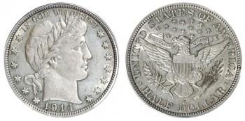 1914 Barber Half Dollar