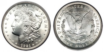 US Silver Coins, such as this Morgan Dollar, realized lower melt values this week