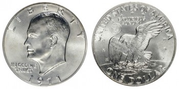 Silver coin melt values, such as for this 1971 Eisenhower Silver Dollar, rose on average in January