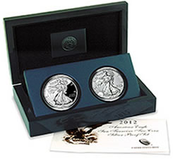 American Eagle San Francisco Two-Coin Silver Proof Set