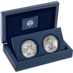 Melt Value of West Point Silver Eagle Two Coin Set Starts at $48.14