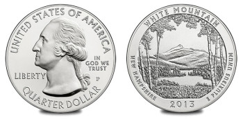 2013 White Mountain National Forest 5 Oz Silver Uncirculated Coin