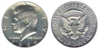 Historical 1965 1970 Kennedy Half Dollar Silver Coin Melt Values